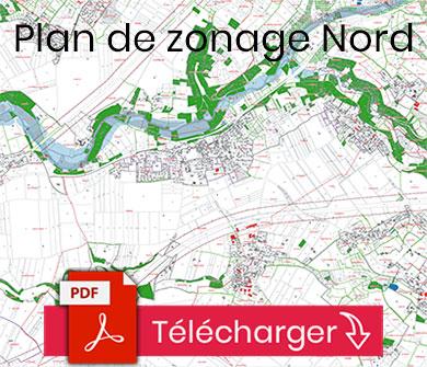 Plan du zonage nord de la commune de Sainte-Néomaye (PLUI)