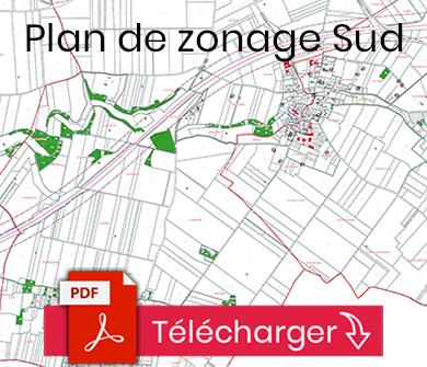 Plan du zonage sud de la commune de Sainte-Néomaye (PLUI)